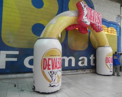 Arco Inflável Cerveja Devassa