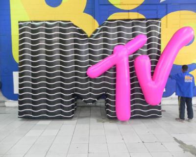 [Letreiro Inflável MTV 3D  3,00x4,40x0,90m]