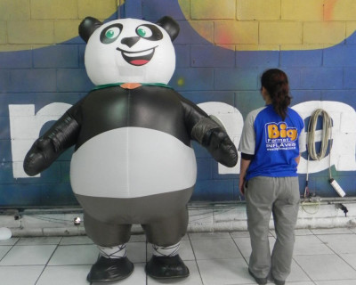 Fantasias ou Roupas Infláveis - CREAS - Panda -  2,20m
