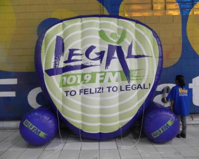 [Logomarca Inflável Legal 101,9 FM]