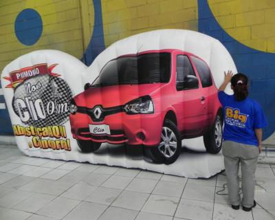 [Logomarca Inflável Renault Clio  - Osasco e Jandira]