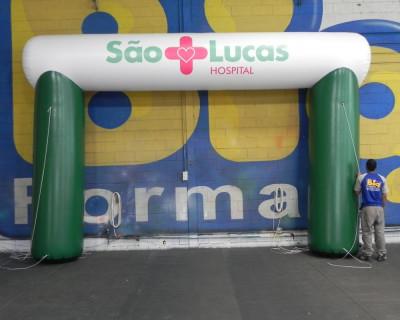 Portal / Pórtico Inflável Trave - São Lucas Hospital