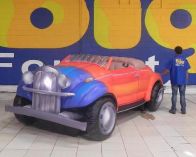[Calhambeque Fusca - Réplica Inflável de Carro 3D - 1,52x4,81x1,84m]