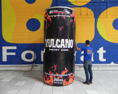 [Lata Inflável - Vulcano Energy Drink]