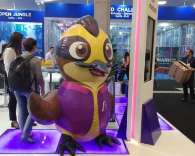 [Mascote Pássaro 3D Medpass]